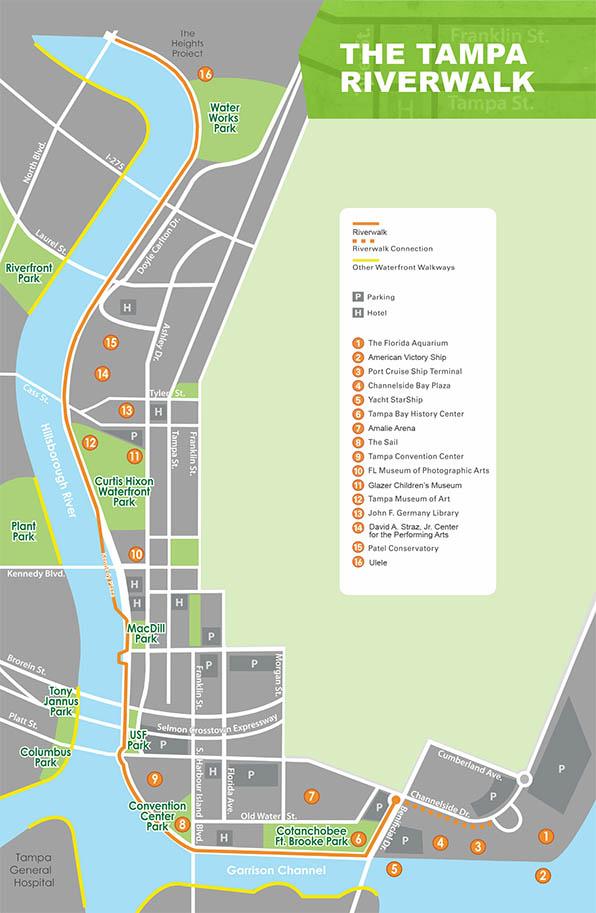 Tampa's Riverwalk Park Map