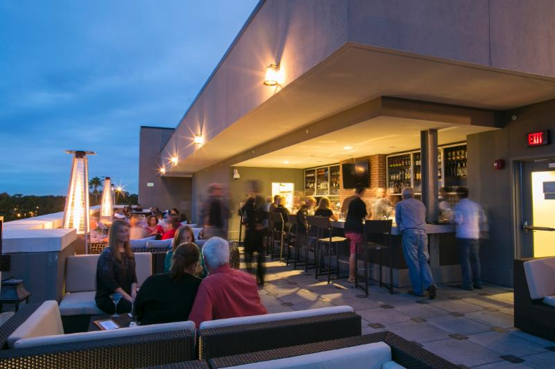 Epicurean rooftop lounge