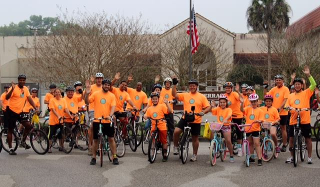 Participants join the 2015 Ride with the Mayor in Temple Terrace