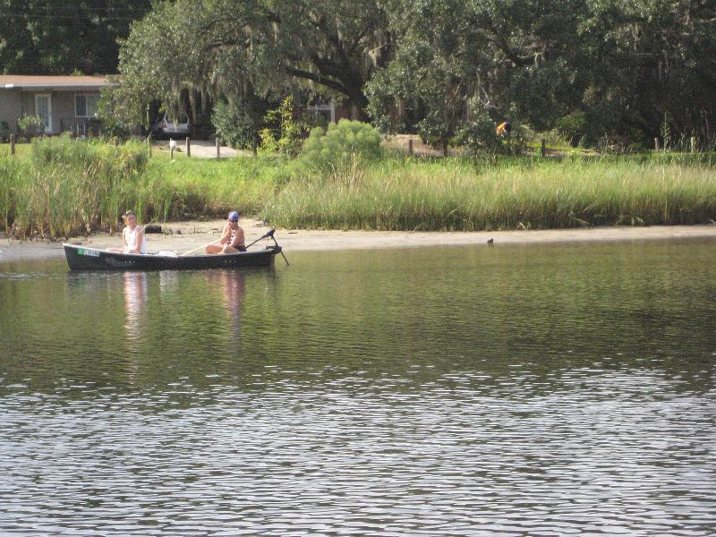 Canoers on the lower Hillsborough River