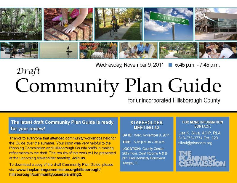 Join us for the next Community Plan Guide Meeting on November 9th!
