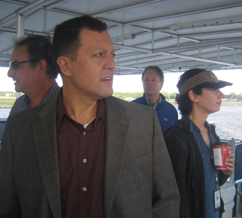 Planning Commission Chair Frank Chillura on board the Port of Tampa boat tour.