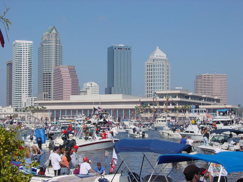 boats taking over at 2003 Gasparilla Fest