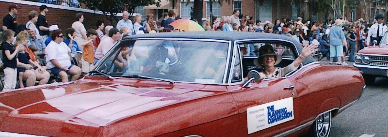 Jackie Wilson waving in parade