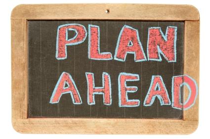 Plan Ahead Chalk Board