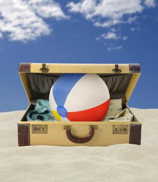 Beach Ball Suitcase Beach