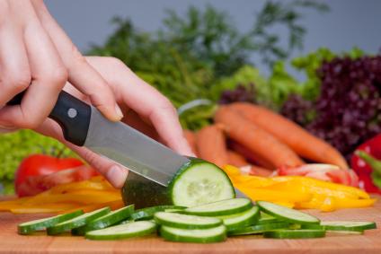 Slicing Cucumber veggies bkgd