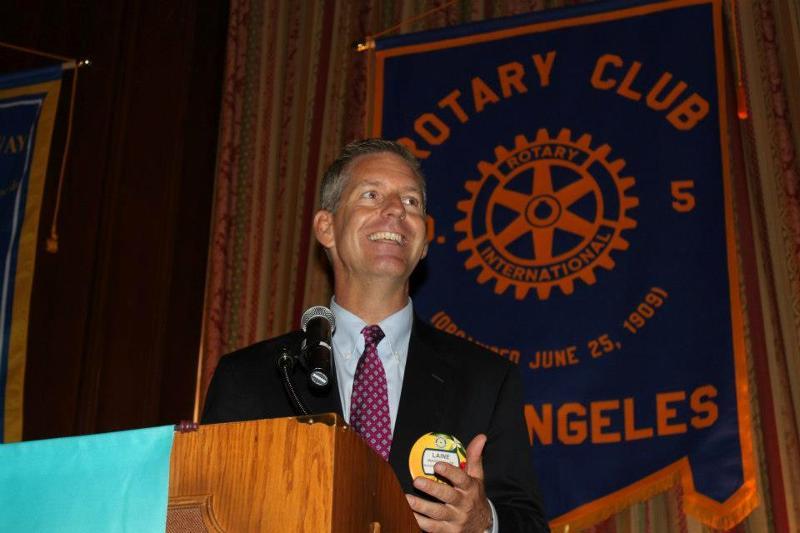 Talking to LA5 Rotary Club