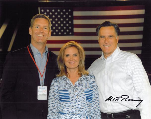 Photo with Mitt Romney and wife