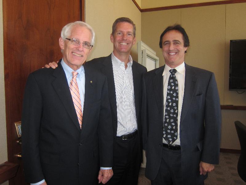 Commissioner John Green and Brad Luster
