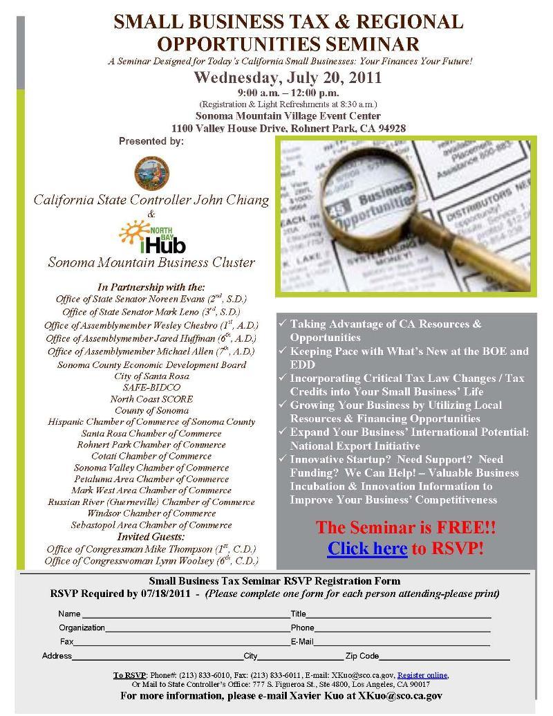 Small Business Tax Seminar