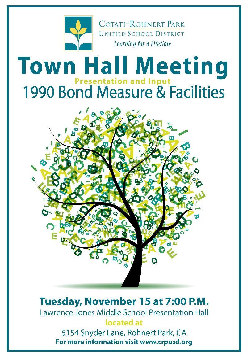 CRPUSD Town Hall Poster