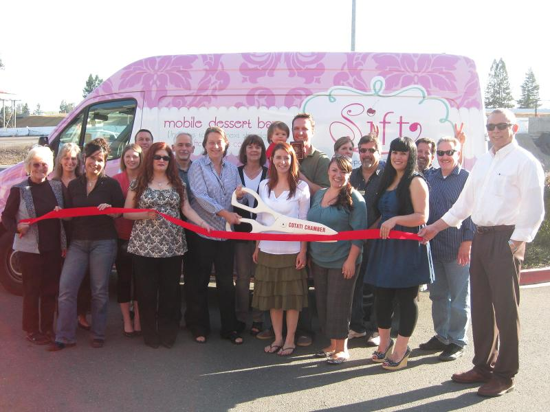 Sift Cupcake Ribbon Cutting
