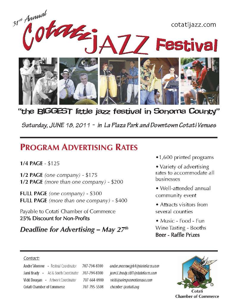 Jazz Festival Ad Rates