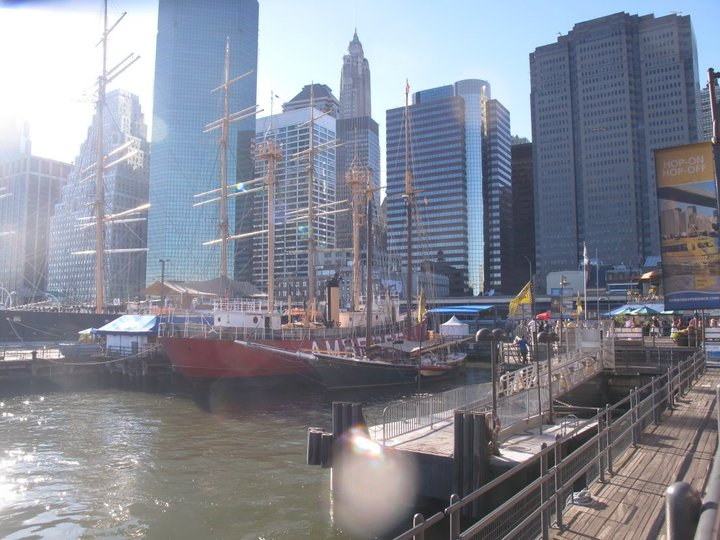 Part of the South Street Seaport