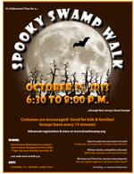 2013 Spooky Swamp Walk Flyer