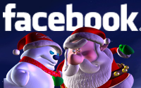 Santa vs the Snowman on Facebook