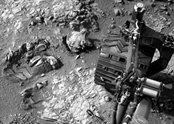 Curiosity Wheel Tracks