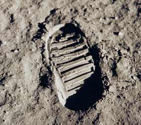 Apollo 11 shoe print