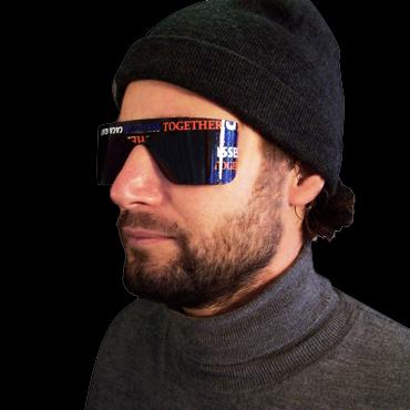 caca glasses on male model
