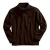 Bonded coruroy fleece pullover