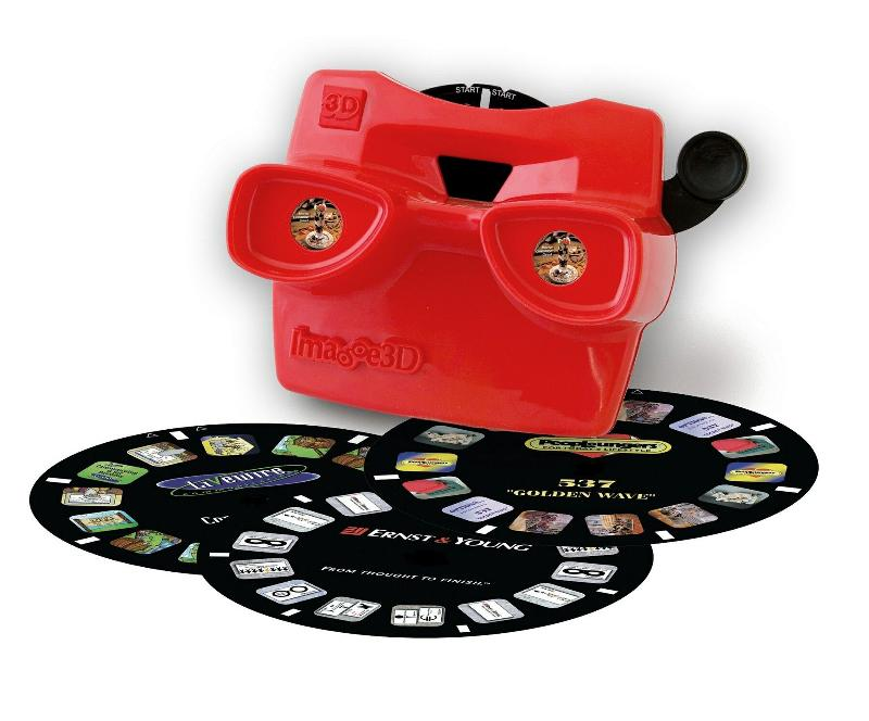 3D viewer with film reels