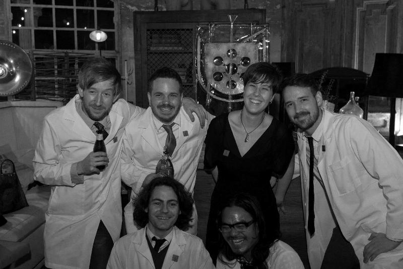 The whole gang at the Cocktail Lab