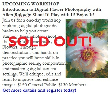 Photo Class SOLD OUT
