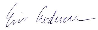 Eric Andersen's signature