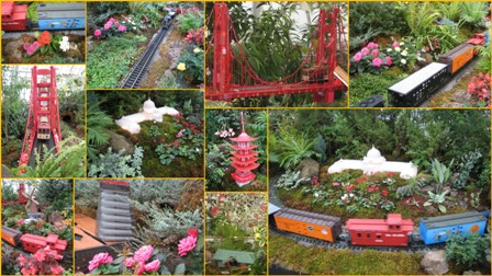 Garden Railway collage