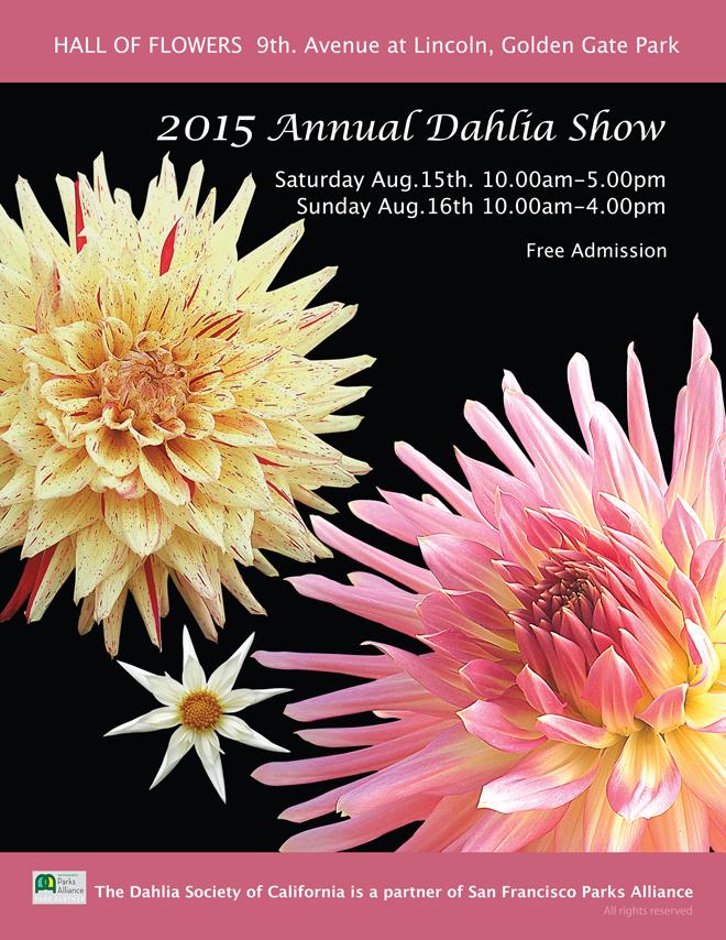 2015 Dahlia show flyer
