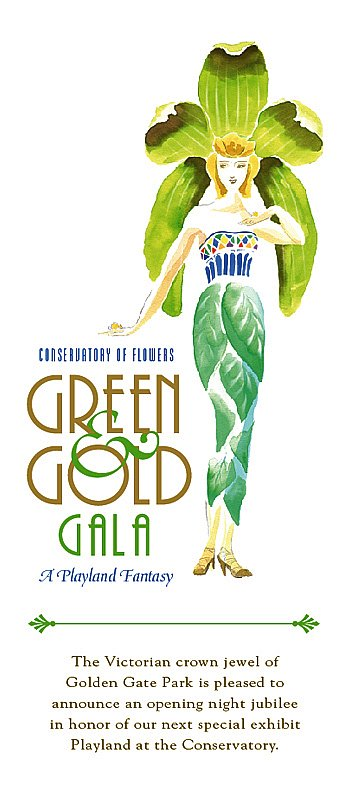 Green & Gold Annoucement Flier
