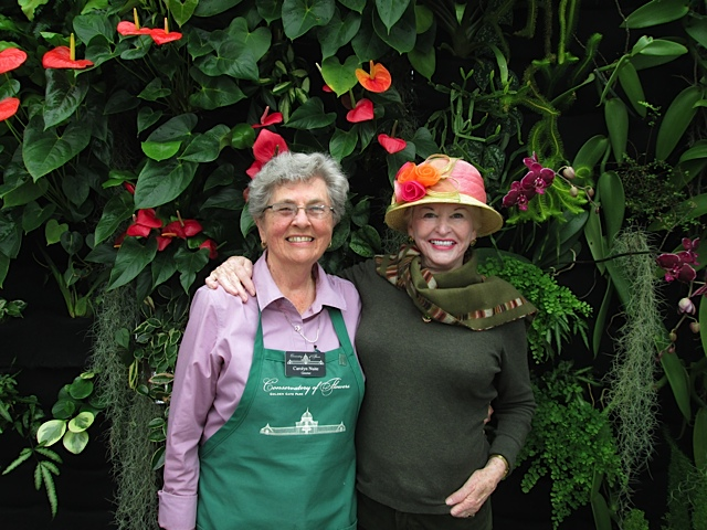 Conservatory volunteers Carolyn Nuite and Eve Maher