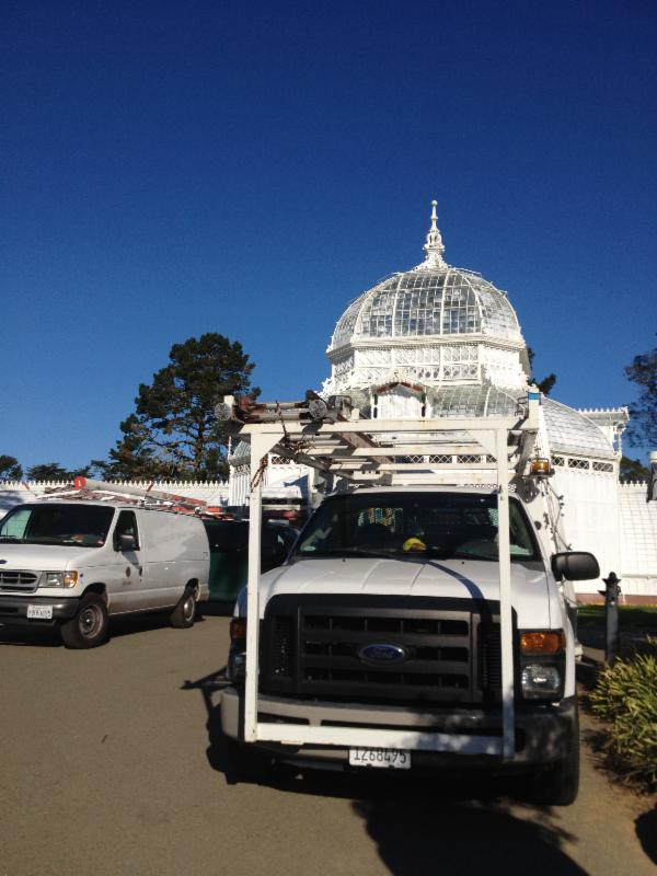 Maintenance week at the Conservatory