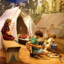 Framed exhibit at Bay Area Discovery Museum