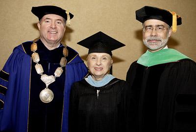 Interim Chancellor Clark, Mrs. Stone, President Heath