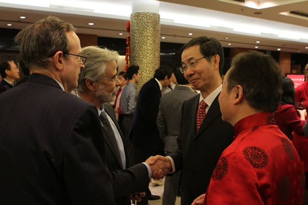 Dr. Heiberger, President Heath, Amb. Sun and Consul Cen