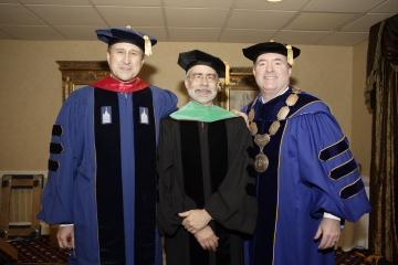 Trustee Cox, President Heath, Chancellor Clark