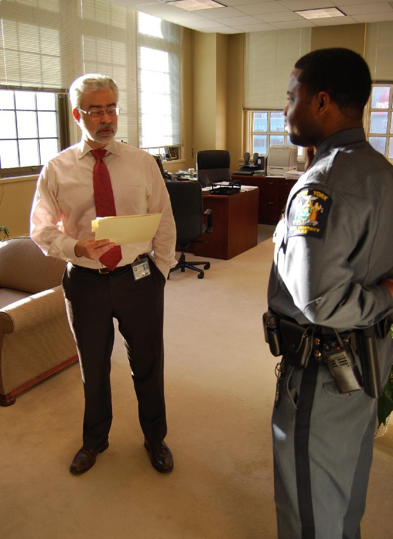 Pres. Heath Swearing in Officer Wilson