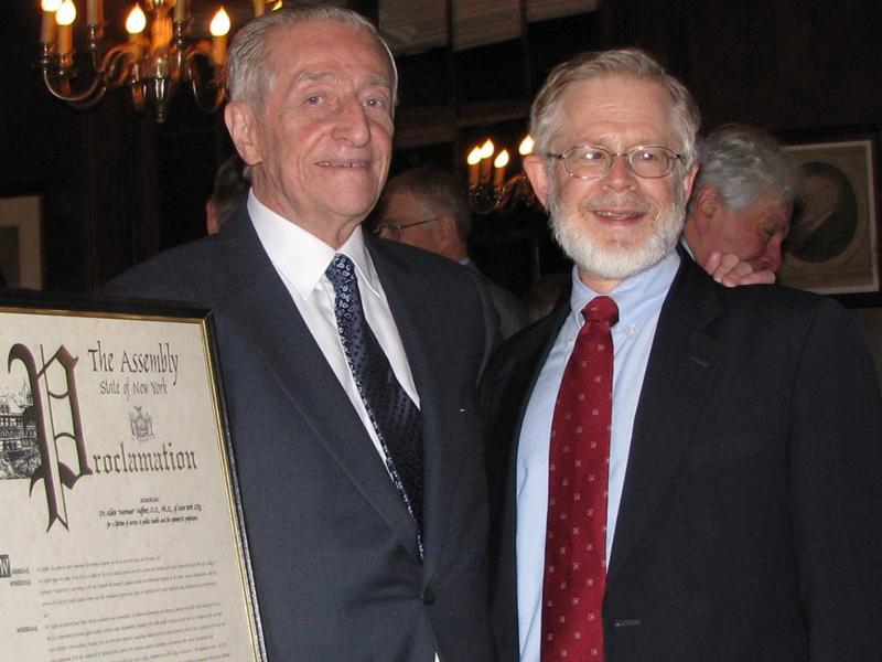 Dr. Alden N. Haffner and Assemblyman Richard Gottfried