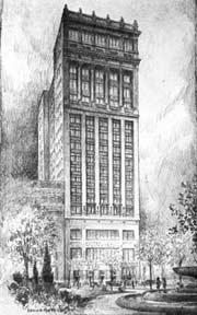 College building sketch
