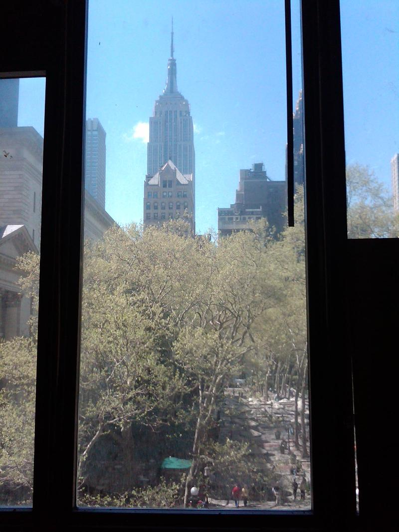 Wall Demolition Reveals View of Bryant Park