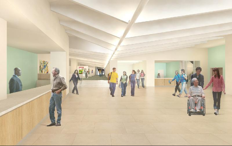 Architect's Rendering of New Lobby