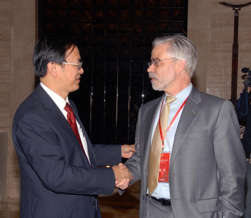 Dr. Qu, President, Wenzhou Medical College, and Dr. Heath