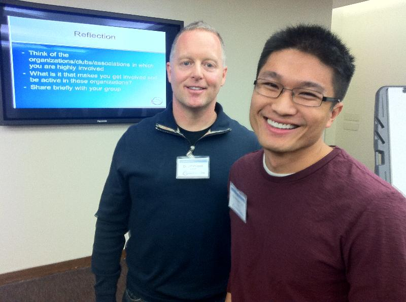 Dr. Philpott and Quy Nguyen '13
