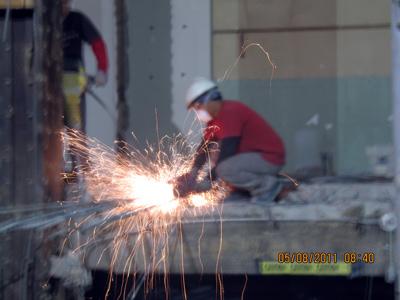 Working on the Steel Beams