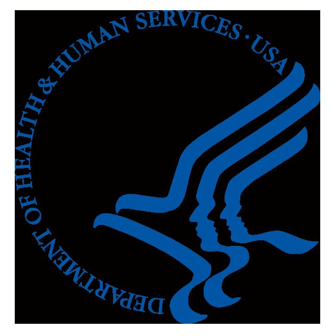 HHS logo - light blue. Official HHS logo from website (CMYK).