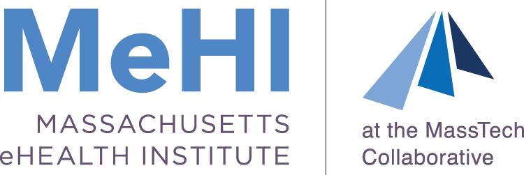 MeHI logo. Massachusetts eHealth Institute logo with MassTech.
