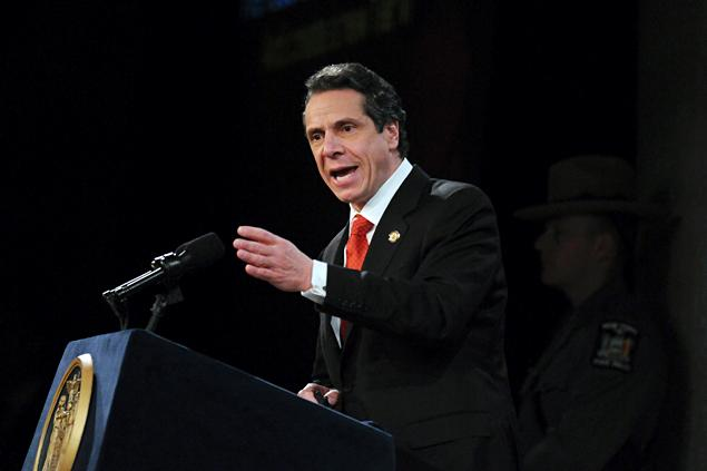 Gov. Cuomo delivering the State of the State Address on Jan. 10 2013.