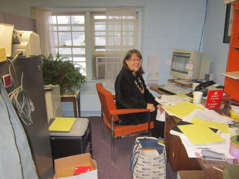 Executive Director Sue Porter at her new desk